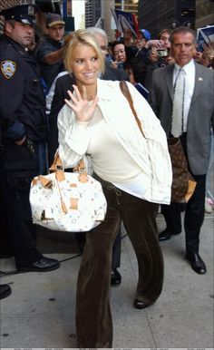 Jessica Simpson NYC October 6 2003