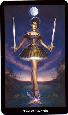 Two of Swords - The Steampunk Tarot