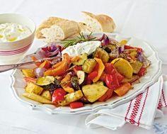 Schmorgemüse mit Fetadip