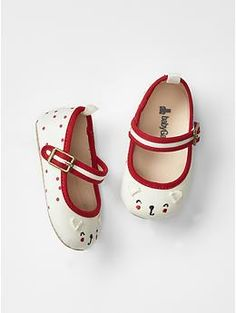 Cat dot mary jane flats