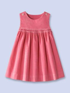 Velvet corduroy dress, sounds and looks divineCute, tiny bit of smockingLucy top cut mid yoke and smocked skirt addedAnother Great Find On ZulilyLove the pleat effect Kids Frocks, Frocks For Girls, Dresses Kids Girl, Little Girl Dresses, Kids Outfits, Children Dress, Girl Dress Patterns, Sewing Patterns Girls, Toddler Dress