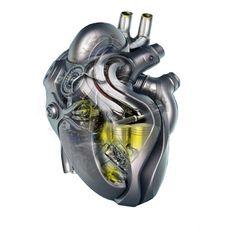 Heart of a race car Cyberpunk, Engine Tattoo, Steampunk Heart, Arte Robot, Heart Tattoo Designs, Concept Weapons, Anatomical Heart, Heart Images, Robot Design
