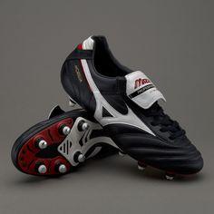 156f5f68a1 Mizuno Morelia II SG - Black White Red Soccer Gear