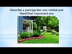 Real Ielts speaking part 2| Describe a park/garden you visited and liked...