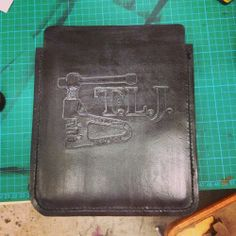 #handmade #leather #ipad case with #chainbreaker detail