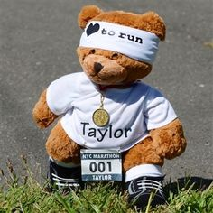 Personalized Running Ready to Race Bear | Running Teddy Bear | Personalized Running Gifts