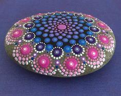 Items similar to Original Hand Painted Acrylic Mandala Canvas Painting on Etsy