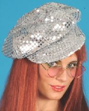 Disco Sequin Hat Silver. This is a great themed hat http://www.novelties-direct.co.uk/disco-sequin-hat-silver-3.html