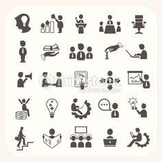 ベクトルアート : Management and Business icons set