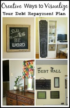"""We all need a little motivation to keep going when we're paying down debt – especially if it's large amount. Here are a few creative ways that you can actually """"see"""" your debt repayment plan working.  Great Motivation!   www.acultivatednest.com"""