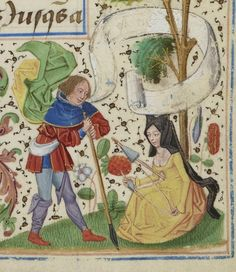 By the sweat of their brow – Manuscript Art Medieval Life, Medieval Art, Medieval Manuscript, Illuminated Manuscript, Renaissance, Spinning Wool, Early Middle Ages, Medieval Costume, Book Of Hours