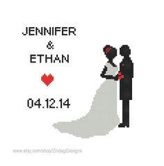 Custom+Cross+Stitch+Pattern+Initials+Wedding+by+ZindagiDesigns,+$5.50