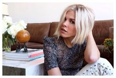 Emily Weiss, icy blonde