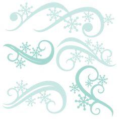 Winter Flourishes SVG scrapbook title winter svg cut file snowflake svg cut files for cricut cute svgs free