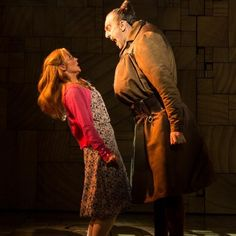 Miria Parvin as Miss Honey and Craige Els as Miss Trunchbull
