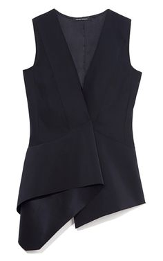 Navy Heavy Silk Charmeuse Top by Narciso Rodriguez for Preorder on Moda Operandi