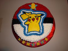 Pikachu Birthday Cake! @mcvey04  we totally need to make something like this for one of your boys birthdays! Haha how cool