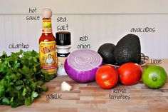 Easy Guacamole Recipe. Also great website for easy healthy homemade recipes!
