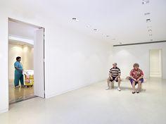 Le sculpteur hyperrealiste Duane Hanson a Monaco