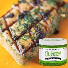 Want a grilling secret?  Brushing #OhPesto basil pesto on your grilled Chicken, Steak, Tuna Steaks, Salmon, Lobster, Shrimp of even fresh Veggies, makes for a delicious, expert meal. You'll be sad when your foods all gone!