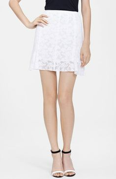 Nina Ricci Floral Lace Miniskirt available at #Nordstrom