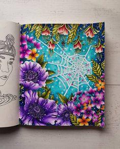 No photo description available. Adult Coloring Book Pages, Coloring Book Art, Coloring Pages, Forest Drawing, Johanna Basford Coloring Book, Colored Pencil Techniques, Markova, Coloring Tutorial, Mandala Drawing