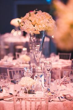 Tall Glass Vases, Centerpieces, Table Decorations, Hydrangea, Floral Arrangements, Events, Wedding, Home Decor, Floral Swags