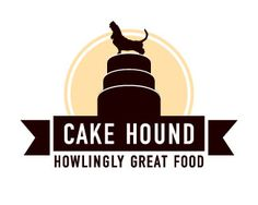 Bakery logo design: Cake Hound - Howlingly Great Food