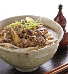 日本人のごはん  Japanese meals  肉うどん  Meat udon.