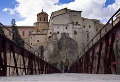 San Pablo's bridge - San Pablo's bridge in Cuenca (Spain) Cuenca Spain, Barcelona Cathedral, Bridge, Louvre, San, Explore, Travel, Viajes, Bro