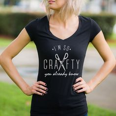 Orginal Im so crafty ©,funny tanks, women's shirts, funny tshirts, diy shirts, shirts for women, funny shirts for women, trendy shirts