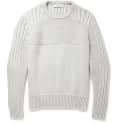 Tim Coppens Panelled-Knit Merino Wool and Cashmere-Blend Sweater | MR PORTER