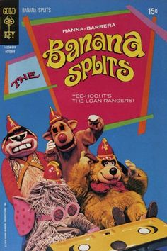 Banana Splits A goofy show that had some of the best action toons shorts on TV. Vintage Toys 1970s, Vintage Tv, Vintage Comics, 1960s Toys, Vintage Stuff, 1970s Childhood, Childhood Toys, Childhood Memories, Childhood Images