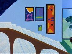 Bugs Bunny modern art collection in his house. Joan #Miro, Han #Hoffman