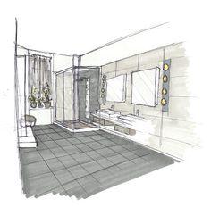 Croquis d'ambiance rénovation de salle de bain