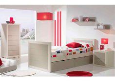 Dormitorio juvenil de estilo colonial con nido