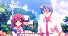 Clannad Nagisa and Tomoya. They are just the most adorable couple >\\\w\\\
