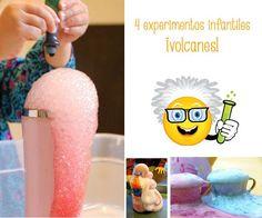 4 divertidos experimentos infantiles: ¡volcanes!