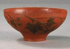 Albert Dammouse (1848-1926), Pâte de verre Bowl.