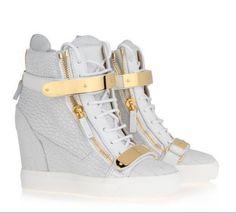c162bfe5edb fashion GZ sneakers white wedge shoes Giuseppe Zanotti Heels