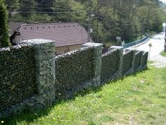 gabion fence could also add buttressing