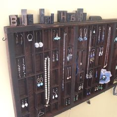 type set drawers | Printer Drawer Jewelry Display | type set drawers