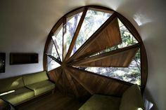 Windmill inspired window ventilation