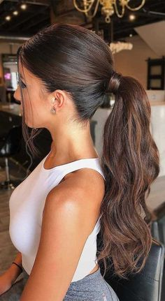 Most current Free of Charge Ponytail hairstyles for long hair Style Summer seaso. - Most current Free of Charge Ponytail hairstyles for long hair Style Summer season is practically mo - Wedding Ponytail Hairstyles, Bridal Ponytail, Daily Hairstyles, Classy Hairstyles Medium, Ponytail Hairstyles For Prom, Trendy Hairstyles, Drawing Hairstyles, Birthday Hairstyles, Beach Hairstyles