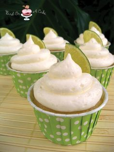 Coconut Lime Cupcakes with Coconut Cream Cheese Frosting