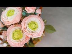 DIY RANUNCULUS paper flower from CREPE PAPER