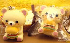 Wholesale 2013 new arrival rare cute kawaii rilakkuma squishy charms PU 6cm squishy buns bread, $2.17/Piece   DHgate
