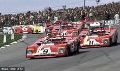 BOAC 1000 1972, #9 Clay Regazzoni, #11 Jackie Ickx & #10 Ronnie Peterson.