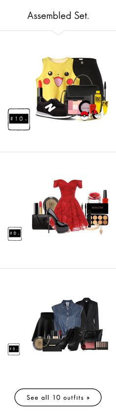 """""""Assembled Set."""" by mzelleshort ❤ liked on Polyvore featuring River Island, Lanvin, NARS Cosmetics, New Balance, Maybelline, Rituals, Stila, Pamela Love, Kenzo and Chanel"""