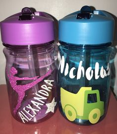 Ballerina & truck!  Great for all ages :) can change colors to your request.   13 oz with straw